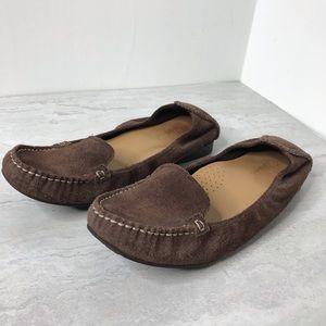 Cole Haan NikeAir brown suede loafers 7
